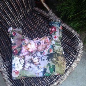 Floral 3/4 Sleeve Stretch Dress